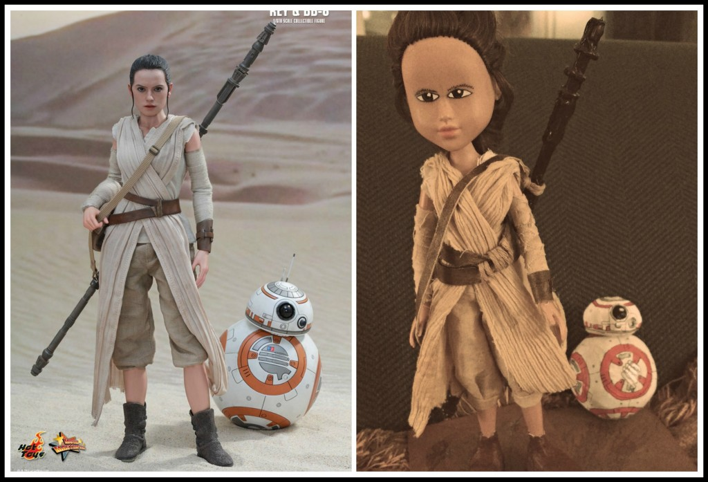 Rey and BB8 Collage