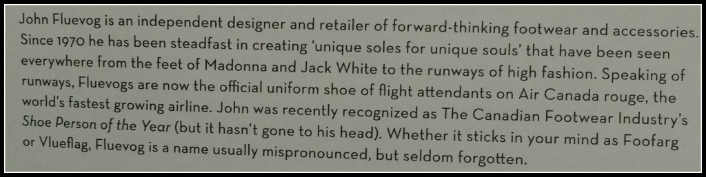 Fluevog blurb