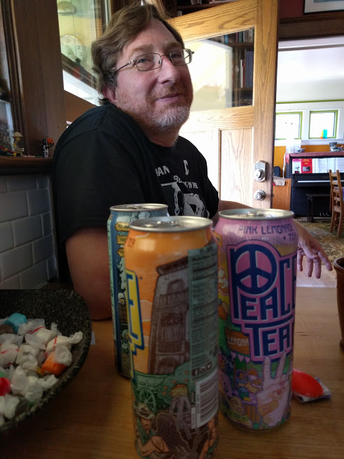 My brother and his younger daughter, Sofia, came again this summer — both to visit us and to attend Camp Grandma at our aunt and uncle's place. Sure, it's great to see them, but moreso: it's great to finally have some Peace Tea in the house.