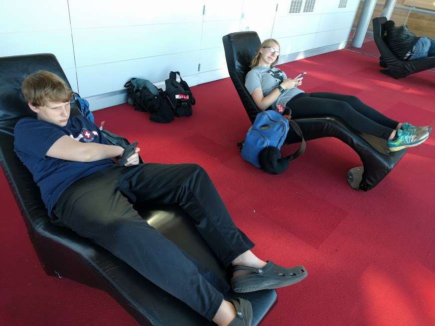 We had a dumb-long return journey home and were outrageously grateful to the Paris airport for providing these chairs. I tucked my earbuds in and fell asleep right quick.